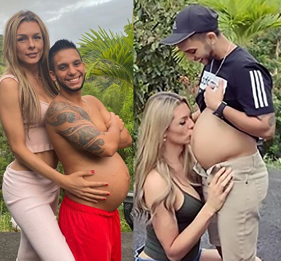 Colombian transgender shares pix of her husband's eight-month pregnancy