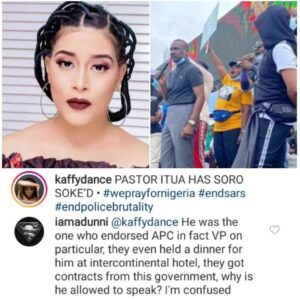 """Actress, Adunni Ade Blasts Pastor Ighodalo For Speaking At #EndSARS Candle Light saying, """"He Endorsed APC"""""""