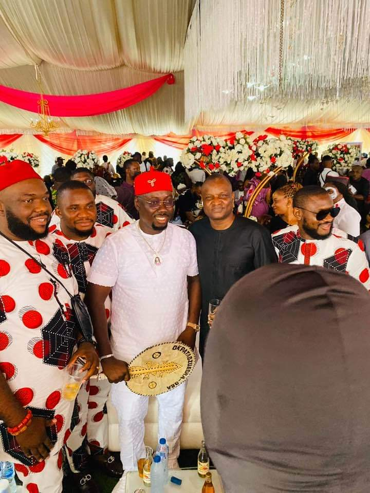Top Police Chief,Abba Kyari Attends Burial Of Obi Cubana's Mother(Pictures)